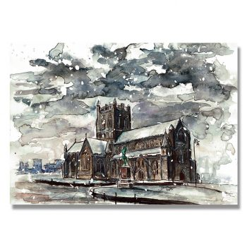 Paisley, Paisley Is, Paisley Abbey, Art Print, Artist Print, Josef Mcfadden, Watercolour painting